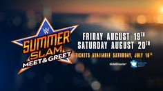 Heading to WWE SummerSlam in Brooklyn? Don't miss your chance to meet your favorite WWE Superstars face-to-face with our SummerSlam Meet & Greet sessions August 19 & 20 at Barclays Center.   Use the pre-sale code WWEPIN this Thursday at 10 AM ET to reserve your spot before anyone else at this link: http://wwe.me/jI086X
