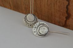 Concentric Circle Sterling Silver Dangle by ReaganHayhurst on Etsy, $68.00