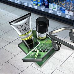 Olay shows just how effective 3D floor graphics can be.  Their POS decal saturates the aisle.