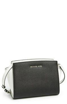 MICHAEL Michael Kors 'Medium Selma' Saffiano Leather Crossbody Bag  #Nordstrom I NEED THIS IN PEARL GREY