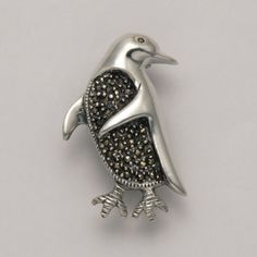 Penguin Marcasite Pin at theBIGzoo.com, a family-owned gift shop with 12,000+ animal-themed items.