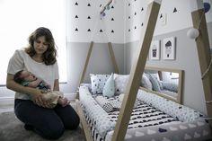 Um quarto feito online Do Rio, a arquiteta CRIS PASSOS elaborou o ambiente inteiro de LEONARDO, em São Paulo. Resultado: 9m2 com uma pegada montessoriana.
