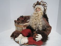 Santa  The Gatherer Father Christmas by PutsyPlace on Etsy
