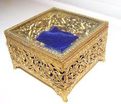 Japanese Wooden Jewelry Music Box Decoupage by Globalfindings