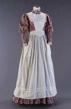 Laura Ashley pinafore and long dress.