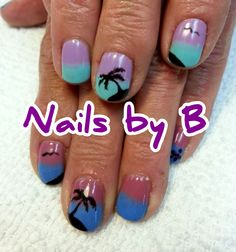 Color changing Tropical Nails by B