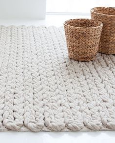 Solid-color wool rug TRENZAS by GAN By Gandia Blasco   #design José Antonio Gandía-Blasco @gandiablasco