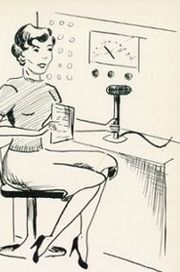 """Student art from the 1953 """"Mast"""" yearbook of Garden City high school in Garden City, New York.   #GardenCity #Mast #yearbook #1953"""