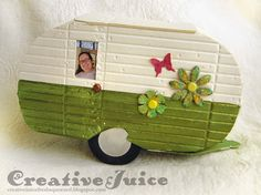 Creative Juice for Eileen Hull travel line dies with a trailer; Jan 2015