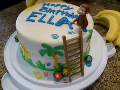 Curious George Cakes - paint
