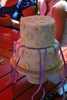 charm cake for bridal luncheon--each girl pulls a ribbon from the cake that has a charm on the end with a special meaning. how cute!