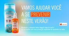 Dengue, Zika, Chikungunya Vamos ajudar você a se prevenir nesse verão!  Mantenha o mosquito longe de você e sua família com essa promoção imperdível de Repelentes Vedis.  Loção repelente Deetona Apenas R$ 7,48 http://www.maissaudeebeleza.com.br/locao-repelente-de-insetos-120ml-vedis?utm_source=pinterest&utm_medium=link&utm_campaign=Repelentes+Vedis&utm_content=post