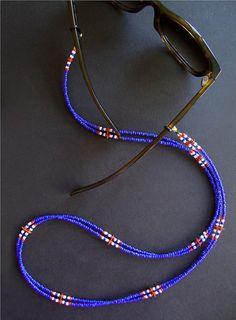 Glasses Chain Beaded, Eyeglass Holder, Glasses Chain, Eyeglass Chain, Sunglass S… - DIY Jewelry Pearl Ideen Bead Jewellery, Diy Jewelry, Beaded Jewelry, Jewelry Making, Beaded Bracelets, Waist Jewelry, Mermaid Jewelry, Eyeglass Holder, Bijoux Diy