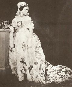 Queen Victoria on her wedding day in 1840.