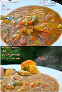 Sopa de Feijão – Você sabia que o Brasil está entre os dez países que mais desperdiçam alimentos no mundo? Usar a criatividade é um dos pontos-chaves para não desperdiçar em casa. Ingredient…