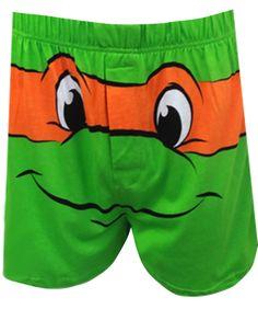 WebUndies.com Teenage Mutant Ninja Turtle Michaelangelo Boxer Shorts