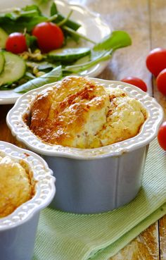 This Cheesy Tuna Soufflé recipe is just so easy – you  will never again have to feel terrified to try out a soufflé! Not to mention how light and tasty it is... #dinner #recipes #easy