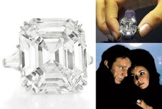 "Elizabeth Taylor's legendary 33.19 ct. Asscher-cut ""Krupp diamond"", now known as ""The Elizabeth Taylor Diamond"". Given to her by Richard Burton."