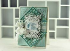Amazing Paper Grace - Vintage Filigree Fancies card and stamps designed by Becca Feeken.