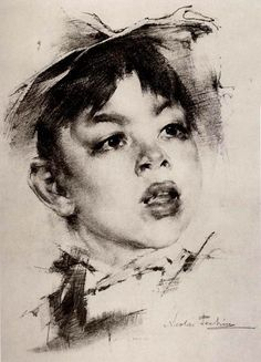 Nikolai Fechin, 1881-1955 | 'portrait of boy'