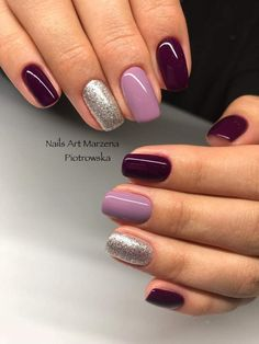 Elegant Nail Designs, Nail Art Designs, Anchor Nail Designs, Purple Nails, Pastel Nails, Cute Nails, Pretty Nails, Hair And Nails, My Nails
