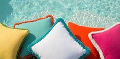 Fun vibrant cushions
