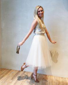 Tulle Midi Skirt #Anthropologie #MyAnthroPhoto