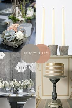 Heavy Duty | Urban Industrial Wedding Styling Ideas - Concrete & Metal