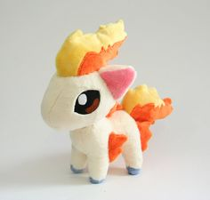 Ponyta Chibi Plush by Yukamina-Plushies.deviantart.com on @DeviantArt