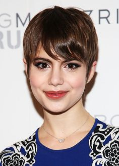 pixie cuts | Sami Gayle Latest Short Haircut: Sweet Pixie Cut with Side Swept Bangs ...