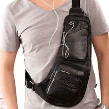 Men's Waterproof Vintage Leather Travel Riding Cross Body Messenger Shoulder Sling Antitheft Chest Casual Bag Color Coffee B Leather Skin, Cow Leather, Vintage Leather, Vintage Men, Leather Art, Crossbody Messenger Bag, Leather Crossbody, Bike Messenger, Shoulder Sling