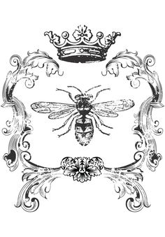 Simplicity Creative Group - Bee Home Decor Iron On Transfer Foto Transfer, Transfer Paper, Decoupage, Bumble Bee Tattoo, French Typography, Illustration Photo, Images Vintage, Bee Art, Graphics Fairy