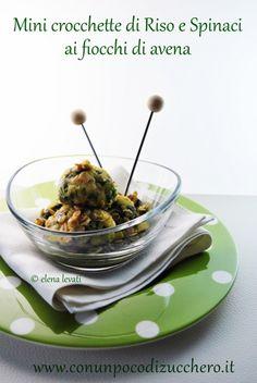 Ricicliamo con Elena: da un risotto alle sue crocchette di riso e spinaci.