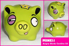 Angry Birds, Pig Bank, Art Classroom, Baby Party, Cherry Blossom, Ceramics, Crafty, How To Make, Pink