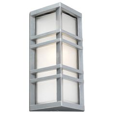 PLC Lighting PLC 8020 Single Light Outdoor Wall Sconce from the Trevino Collecti Silver Outdoor Lighting Wall Sconces Outdoor Wall Sconces