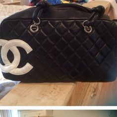 Chanel. Bag leather I purchased this bag on eBay I paid over $500, it's very soft and pretty, when I purchased this it was used. I myself used it like few times I didn't wanna use it for everyday chores, it is little bigger than medium.   I will except reasonable offers. It is used and has minor wears CHANEL Bags Hobos