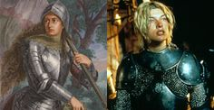 """Joan of Arc,  folk heroine of France and a Roman Catholic saint, fought against England in the One Hundred Years war.  Milla Jovovich in the film """"The Messenger: The Story of Joan of Arc""""."""