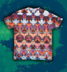 Tie Dye Ice Dye T-Shirt Shibori Size S by OtdelMaljaraTieDye
