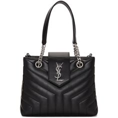 68c2ca673b Saint Laurent - Black Small Monogram Loulou Shopping Tote. Shopping Totes Shoulder StrapShoulder BagsLeather ...