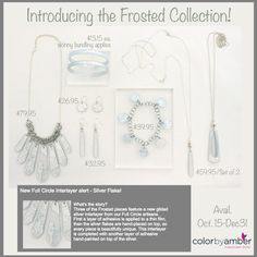 Our Frosted Collection is just Gorgeous!  Perfect for those holiday parties/gatherings… and there is so many ways to can wear all these pieces that you got several looks!