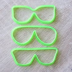 Sunglasses cookie cutter Set 3 pcs by LubimovaCookieCutter on Etsy, $15.00