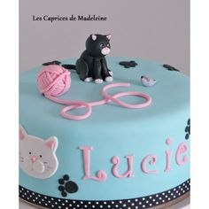 le gâteau chat et sa pelote de laine