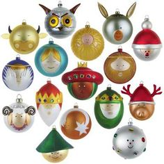 Love these baubles by Alessi. Vintage Christmas Ornaments, Christmas Bulbs, Christmas Decorations, Xmas, Holiday Decor, Alessi, Kitsch, Seasons, Home Decor