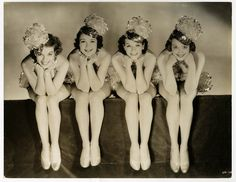 1934 Hollywood Party Musical Chorus Girls Vintage Oversized Art Deco Photograph