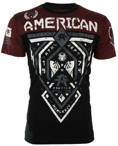 Mens Tee Shirts, Casual Shirts, Fit Men Bodies, American Fighter Shirts, Stylish Men, Workout Shirts, Mens Fashion, Mens Tops, Ufc