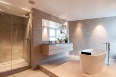 Luxury bathroom interior design ideas from some of the world's most innovative designers. Be inspired by the stunning designs on our site. Bathroom Design Luxury, Bath Design, Interior Design Kitchen, Contemporary Bathroom Inspiration, Bathroom Design Inspiration, Interior Inspiration, Design Ideas, Victoria And Albert Baths, Family Bathroom