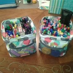 Use the thirty one Little Carry All to organize your pens and other desk necessities.   www.mythirtyone.com/PJbutterfly