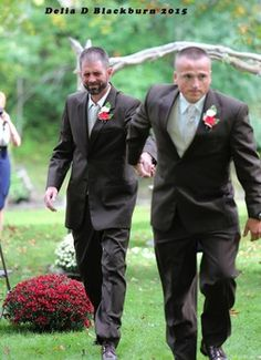 Bride's dad drags step-dad into wedding ceremony so fathers co-give bride away