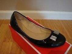 NIB NEW Women Coach Demi Patent Ballet Flat Shoe BLACK Sizes 6-8