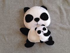 Panda Toy with Baby Panda Excited to share this item from my shop: Panda Toy with Baby Panda Panda Toy with Baby Panda Excited to share this item from my shop: Panda Toy with Baby Panda<br> Panda Stuffed Animal, Stuffed Animal Patterns, Stuffed Animals, Baby Crafts, Felt Crafts, Panda Craft, Baby Panda Bears, Arts And Crafts Storage, Holding Baby